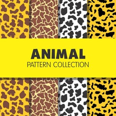 Animal Pattern Collection textile print repeated decor cow tiger