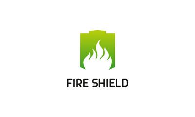 Shield Logo designs vector, Fire Shield logo designs concept vector