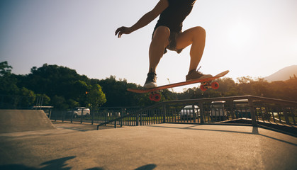 skateboarder skateboarding on skatepark