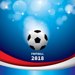 Illustration vector eps10 of Football 2018 for sport Background.