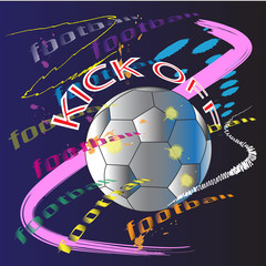 PLAY OFF FOOTBALL ART BRUSH STROKES DESIGN