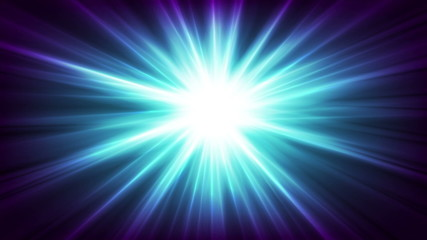 Blue glowing beams abstract background