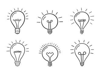 Hand Drawn Lightbulbs