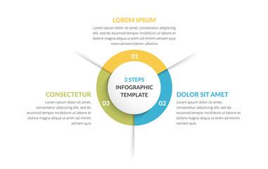 Circle Infographics - Three Elements Wall mural