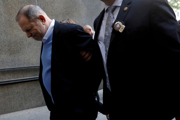 Film producer Harvey Weinstein arrives at Manhattan Criminal Court in New York