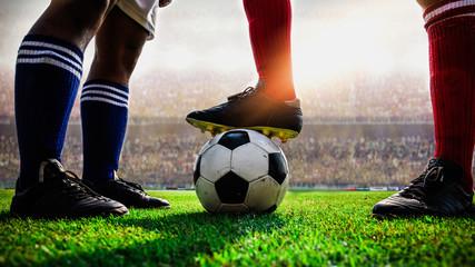 soccer football match kick off