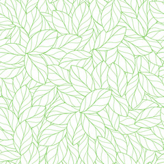 Seamless linear leaves pattern