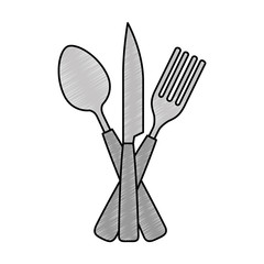 set cutlery tools icon vector illustration design