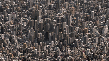 City Skyline Office Skyscraper Buildings 3D