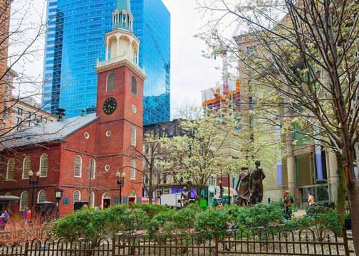 Old South Meeting House downtown Boston