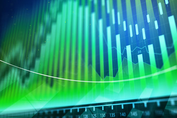 Abstract forex chart backdrop