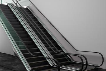 Creative silver escalator