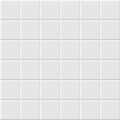 White ceramic tile seamless pattern. Vector background.