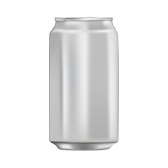 Mock up template aluminum can for design of beverages.