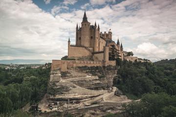 Printed roller blinds Castle Alcazar castle in Segovia with Peñalara mountain. Castilla y Leon, Spain