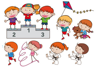 A Set of Sport Kids