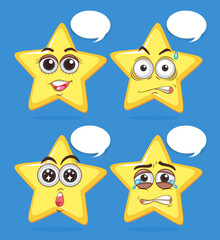 Star facial expression and Speech bubble