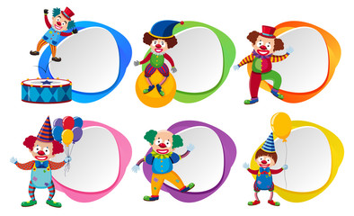 Six Clowns and Colour Template