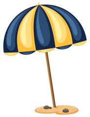 Beach Umbrella on White Background