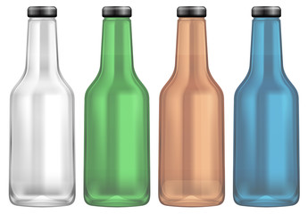 Colourful Bottle on White Background