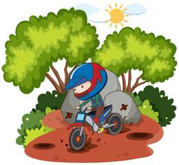 A Motocross Racing in Nautre