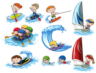 A Set of  Water Sport Activities