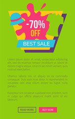 Special Offer Best Sale Promo Poster Push Buttons