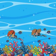 Doodle Kids Underwater Scuba Dive