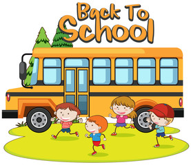 Back to School and Bus Template