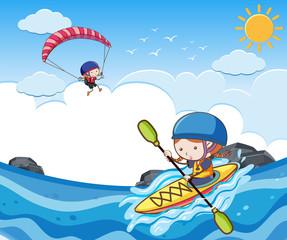 Children Doing Summer Sport Activity
