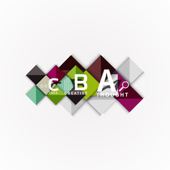 Abstract geometric option infographic banners, a b c steps process