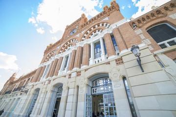 Railway station of RENFE in Aranjuez, Spain. RENFE is the main railway operator in Spain.