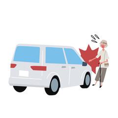 自動車 事故 シニア女性