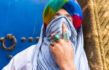 Moroccan man Berber dressed in traditional dress