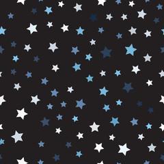 Random star pattern. Seamless vector