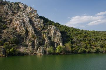 La Portilla del Tietar. Tietar river. Monfrague National Park. Caceres. Extremadura. Spain.