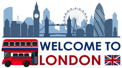 Welcome to London England Landscape