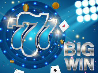 Online casino background for poster, flyer, billboard, web sites, gambling club