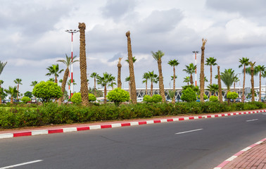 The airport of Marrakech, Morocco