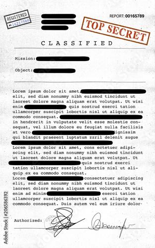 Documento Top Secret Desecretato Informazioni Riservate Testo