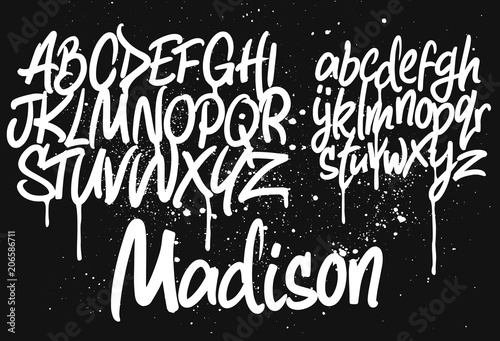 """Download """"Marker Graffiti Font"""" Stock image and royalty-free vector ..."""