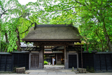 新緑の角館(日本、秋田県)