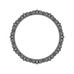 Vintage Round Frame Vector Art