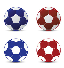 Realistic a football world cup isolated Set On White Background Illustration