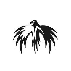 Eagle vector logo. Bird emblem
