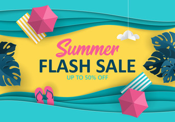 Summer sale banner design