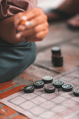 Traditional Chinese chess in Hanoi, Vietnam