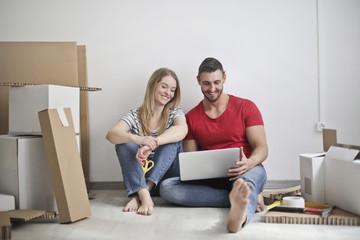 Couple moving to a new place
