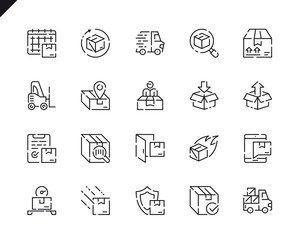 Simple Set Shipping Line Icons for Website and Mobile Apps.