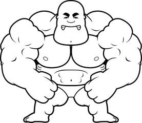 Cartoon Bodybuilder Mad